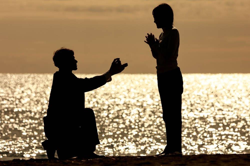 プロポーズの瞬間