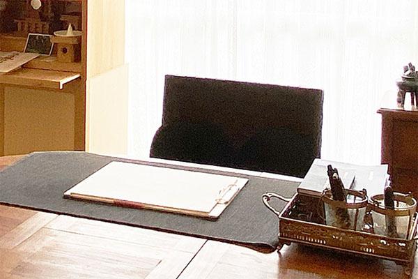 福岡の占いラポールの鑑定室