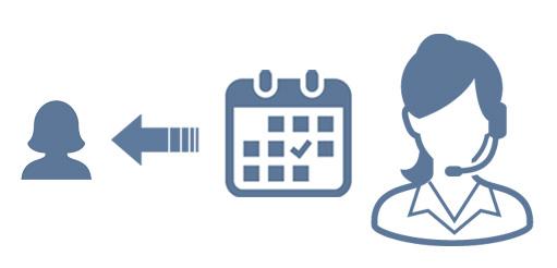 受付より「予約確定」のご連絡をLINE・メールにて差し上げます。電話でご予約の方は担当が直接ご案内します。
