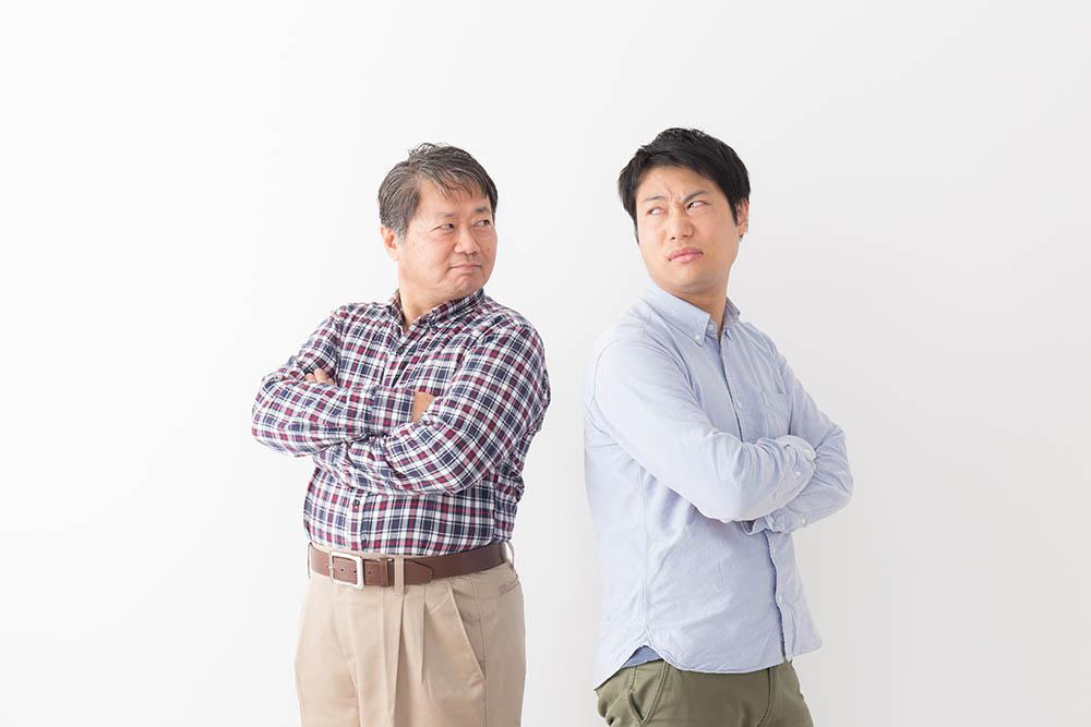 仲の悪い父と息子